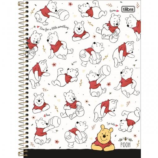 Caderno Espiral Capa Dura Universitário 1 Matéria Pooh 80 Folhas - Sortido