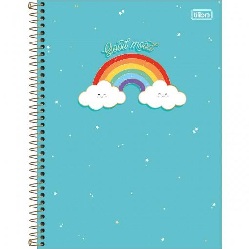 Caderno Espiral Capa Dura Universitário 1 Matéria Rainbow 80 Folhas - Sortido