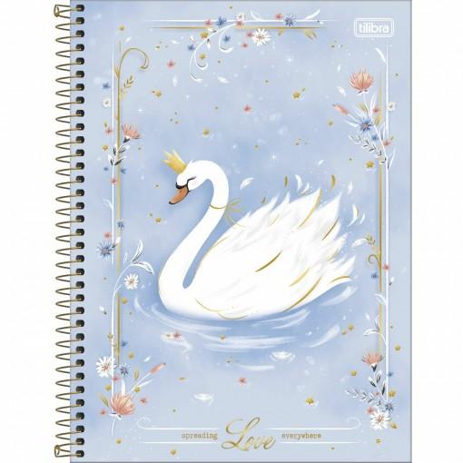 Caderno Espiral Capa Dura Universitário 1 Matéria Royal 80 Folhas - Spreading Love Every - Sortido