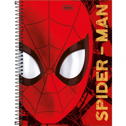 Caderno Espiral Capa Dura Universitário 1 Matéria Spider-Man 80 Folhas (Pacote com 4 unidades) - Sortido