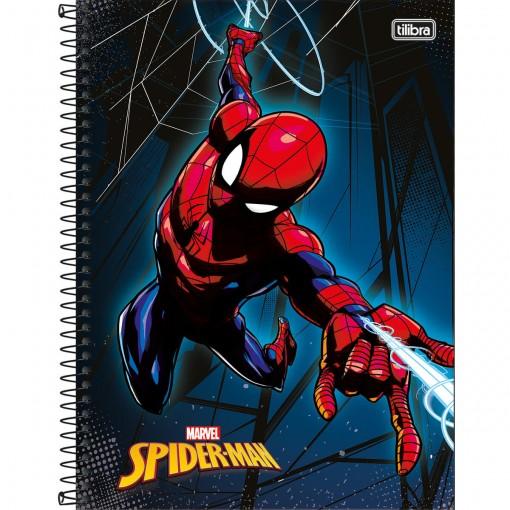 Caderno Espiral Capa Dura Universitário 1 Matéria Spider-Man 96 Folhas (Pacote com 4 unidades) - Sortido