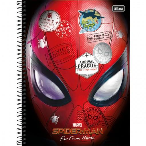 Caderno Espiral Capa Dura Universitário 1 Matéria Spider-Man Far From Home 80 Folhas - Sortido