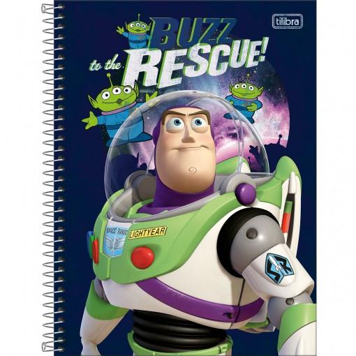 Caderno Espiral Capa Dura Universitário 1 Matéria Toy Story 80 Folhas (Pacote com 4 unidades) - Sortido