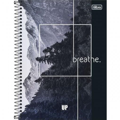 Caderno Espiral Capa Dura Universitário 1 Matéria UP 80 Folhas - Breathe - Sortido