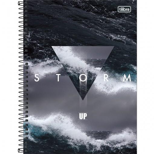 Caderno Espiral Capa Dura Universitário 1 Matéria UP 80 Folhas - Storm - Sortido