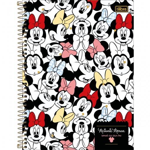Caderno Espiral Capa Dura Universitário 10 Matérias 160 Folhas Minnie (Pacote com 4 unidades) - Sortido