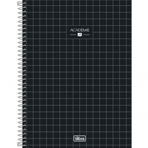 Caderno Espiral Capa Dura Universitário 10 Matérias Académie 160 Folhas (Pacote com 4 unidades) - Sortido