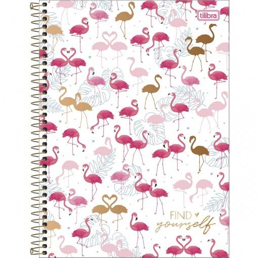 Caderno Espiral Capa Dura Universitário 10 Matérias Aloha 160 Folhas - Find Yourself - Sortido