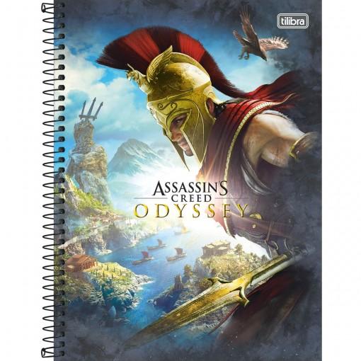 Caderno Espiral Capa Dura Universitário 10 Matérias Assassin's Creed 160 Folhas (Pacote com 4 unidades) - Sortido