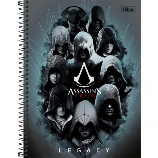 Caderno Espiral Capa Dura Universitário 10 Matérias Assassin's Creed 200 Folhas (Pacote com 4 unidades) - Sortido