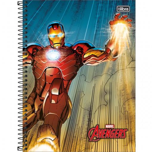 Caderno Espiral Capa Dura Universitário 10 Matérias Avengers 200 Folhas - Sortido (Pacote com 4 unidades)