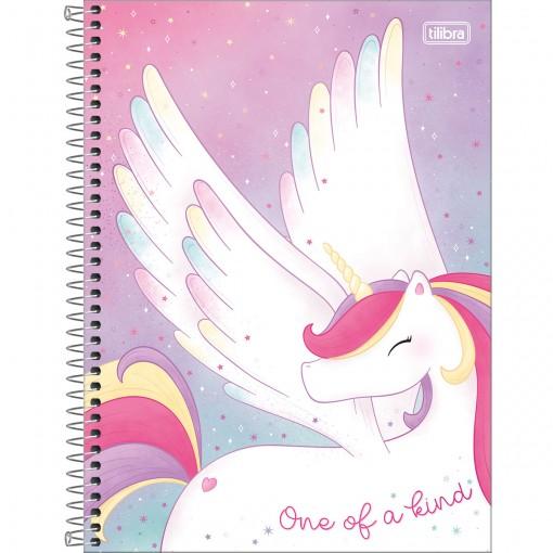 Caderno Espiral Capa Dura Universitário 10 Matérias Blink 160 Folhas - One of a Kind - Sortido