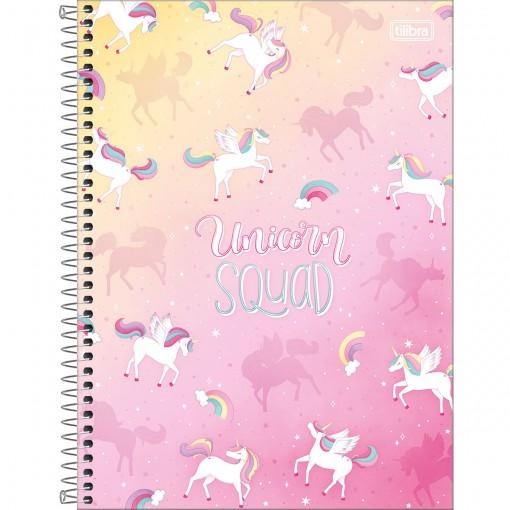 Caderno Espiral Capa Dura Universitário 10 Matérias Blink 160 Folhas - Unicorn Squad - Sortido