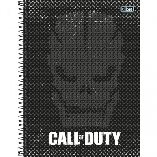 Caderno Espiral Capa Dura Universitário 10 Matérias Call of Duty 160 Folhas - Sortido