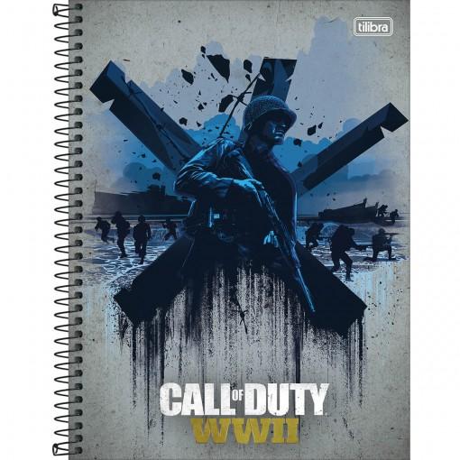 Caderno Espiral Capa Dura Universitário 10 Matérias Call of Duty 200 Folhas (Pacote com 4 unidades) - Sortido