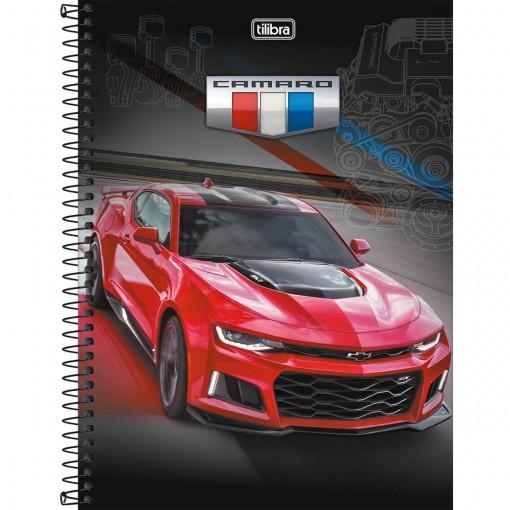 Caderno Espiral Capa Dura Universitário 10 Matérias Camaro & Corvette 200 Folhas (Pacote com 4 unidades) - Sortido