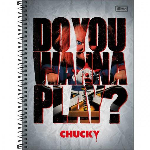 Caderno Espiral Capa Dura Universitário 10 Matérias Chucky 160 Folhas - Sortido (Pacote com 4 unidades)