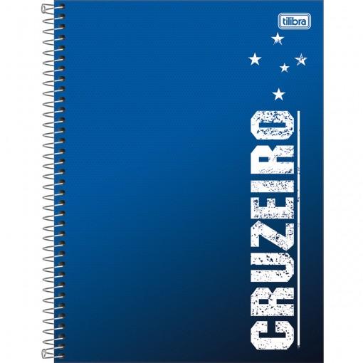 Caderno Espiral Capa Dura Universitário 10 Matérias Clube de Futebol Cruzeiro 160 Folhas (Pacote com 4 unidades) - Sortido