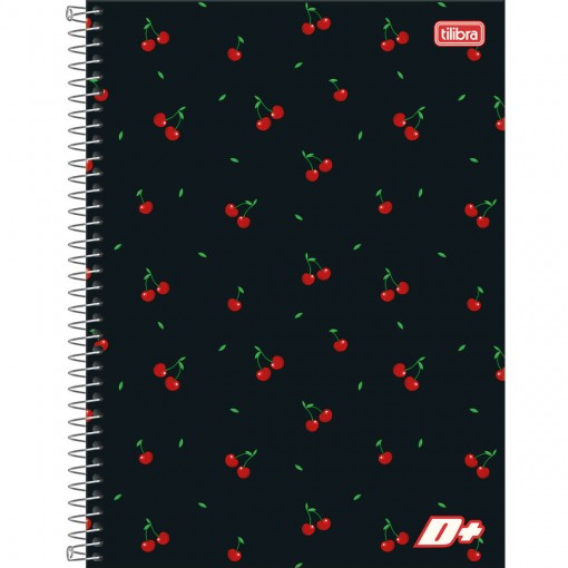 Caderno Espiral Capa Dura Universitário 10 Matérias D+ Feminino 200 Folhas (Pacote com 4 unidades) - Sortido