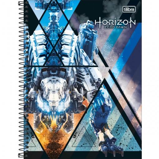 Caderno Espiral Capa Dura Universitário 10 Matérias Horizon Zero Dawn 160 Folhas (Pacote com 4 unidades) - Sortido