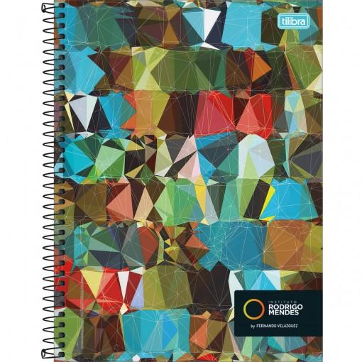 Caderno Espiral Capa Dura Universitário 10 Matérias Instituto Rodrigo Mendes 160 Folhas (Pacote com 4 unidades) - Sortido