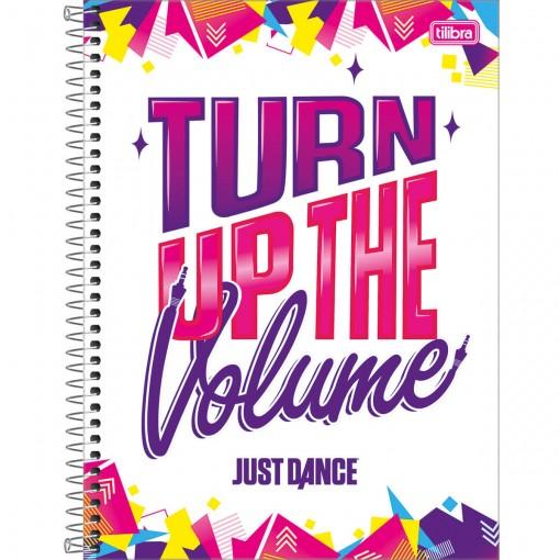 Caderno Espiral Capa Dura Universitário 10 Matérias Just Dance 160 Folhas (Pacote com 4 unidades) - Sortido