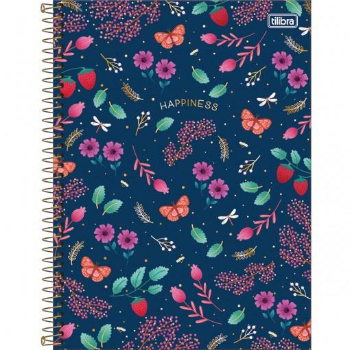 Caderno Espiral Capa Dura Universitário 10 Matérias Le Vanille 160 Folhas (Pacote com 4 unidades) - Sortido