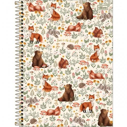 Caderno Espiral Capa Dura Universitário 10 Matérias Loveland 160 Folhas - Sortido