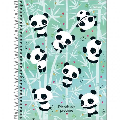 Caderno Espiral Capa Dura Universitário 10 Matérias Lovely Friend 160 Folhas (Pacote com 4 unidades) - Sortido