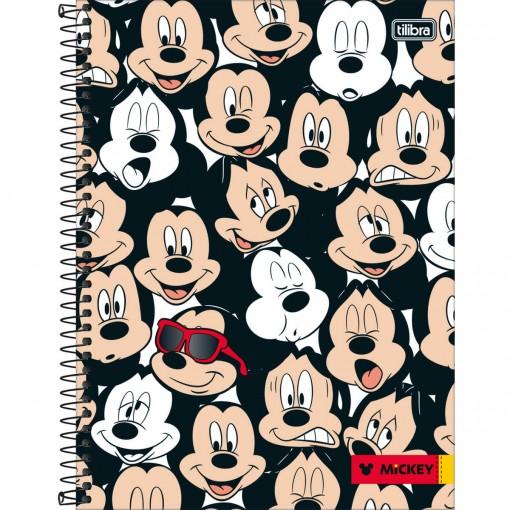 Caderno Espiral Capa Dura Universitário 10 Matérias Mickey 200 Folhas - Sortido (Pacote com 4 unidades)