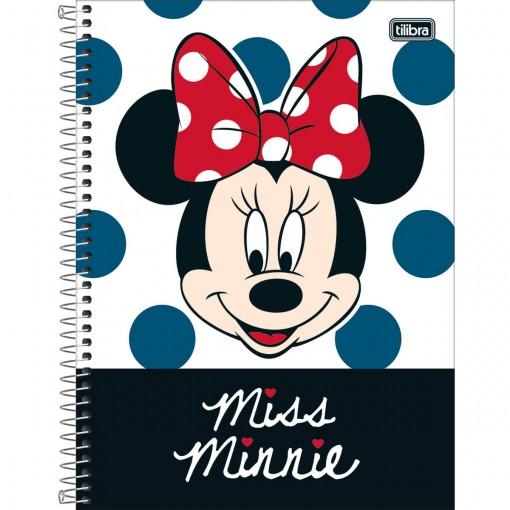 Caderno Espiral Capa Dura Universitário 10 Matérias Minnie Light 160 Folhas (Pacote com 4 unidades) - Sortido