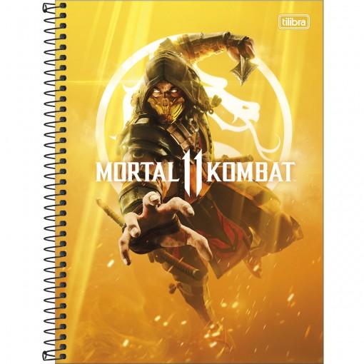 Caderno Espiral Capa Dura Universitário 10 Matérias Mortal Kombat 160 Folhas - Sortido