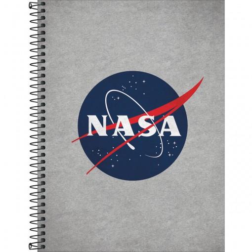 Caderno Espiral Capa Dura Universitário 10 Matérias Nasa 160 Folhas (Pacote com 4 unidades) - Sortido