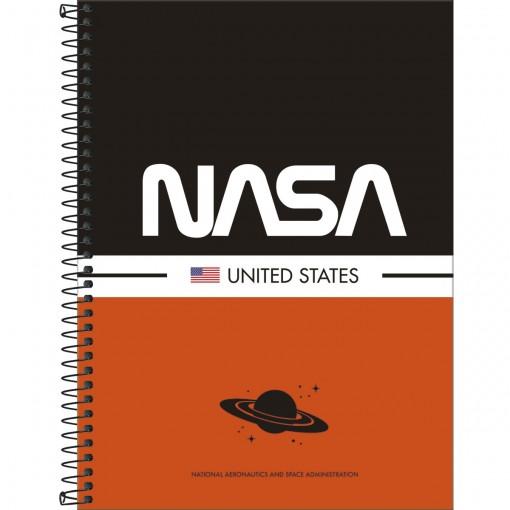 Caderno Espiral Capa Dura Universitário 10 Matérias Nasa 160 Folhas - Sortido