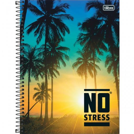 Caderno Espiral Capa Dura Universitário 10 Matérias No Stress 160 Folhas (Pacote com 4 unidades) - Sortido