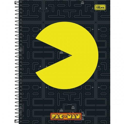 Caderno Espiral Capa Dura Universitário 10 Matérias Pac Man Clássico 160 Folhas (Pacote com 4 unidades) - Sortido