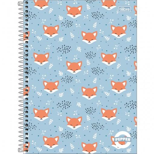 Caderno Espiral Capa Dura Universitário 10 Matérias Pepper Feminino 160 Folhas (Pacote com 4 unidades) - Sortido