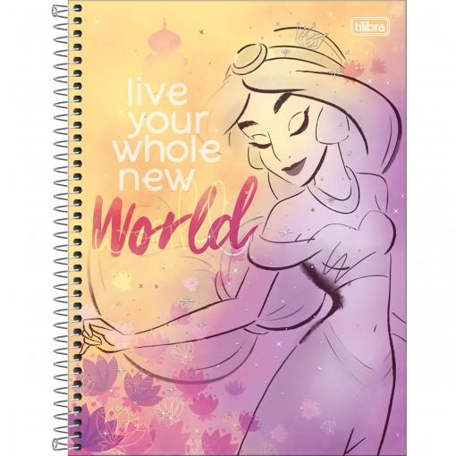 Caderno Espiral Capa Dura Universitário 10 Matérias Princesas Fashion 160 Folhas (Pacote com 4 unidades) - Sortido