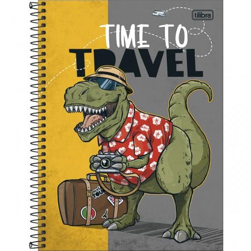 Caderno Espiral Capa Dura Universitário 10 Matérias Raptor 160 Folhas - Sortido