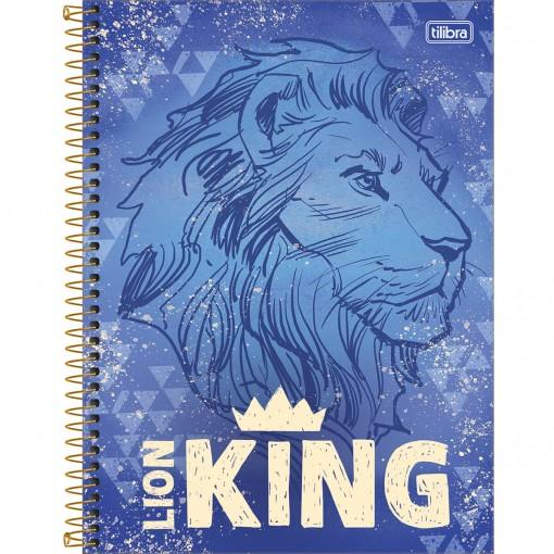 Caderno Espiral Capa Dura Universitário 10 Matérias Rei Leão 160 Folhas - Sortido