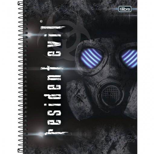 Caderno Espiral Capa Dura Universitário 10 Matérias Resident Evil 200 Folhas (Pacote com 4 unidades) - Sortido