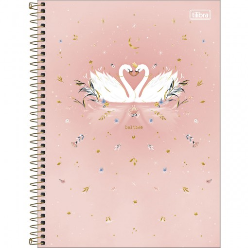 Caderno Espiral Capa Dura Universitário 10 Matérias Royal 160 Folhas - Believe - Sortido