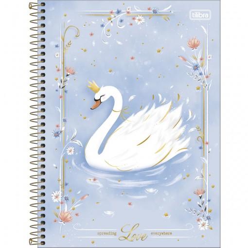 Caderno Espiral Capa Dura Universitário 10 Matérias Royal 160 Folhas - Spreading Love Every - Sortido