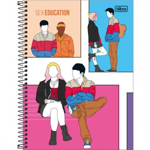 Caderno Espiral Capa Dura Universitário 10 Matérias Sex Education 160 Folhas - Sortido