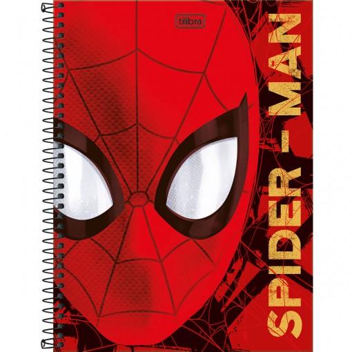 Caderno Espiral Capa Dura Universitário 10 Matérias Spider-Man 160 Folhas (Pacote com 4 unidades) - Sortido