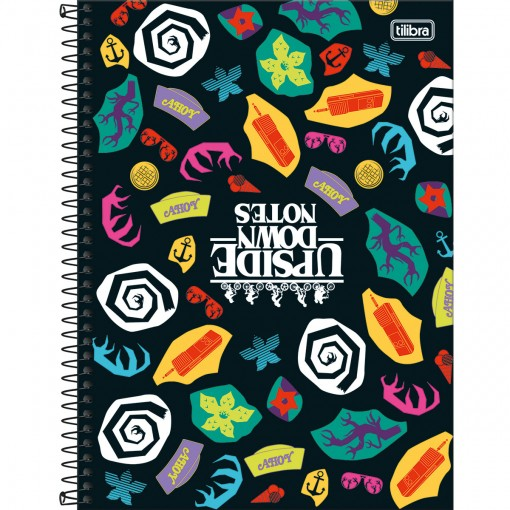 Caderno Espiral Capa Dura Universitário 10 Matérias Stranger Things 160 Folhas - Sortido