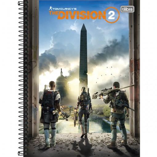 Caderno Espiral Capa Dura Universitário 10 Matérias The Division 160 Folhas - Sortido