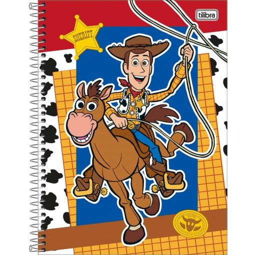 Caderno Espiral Capa Dura Universitário 10 Matérias Toy Story Light 160 Folhas (Pacote com 4 unidades) - Sortido