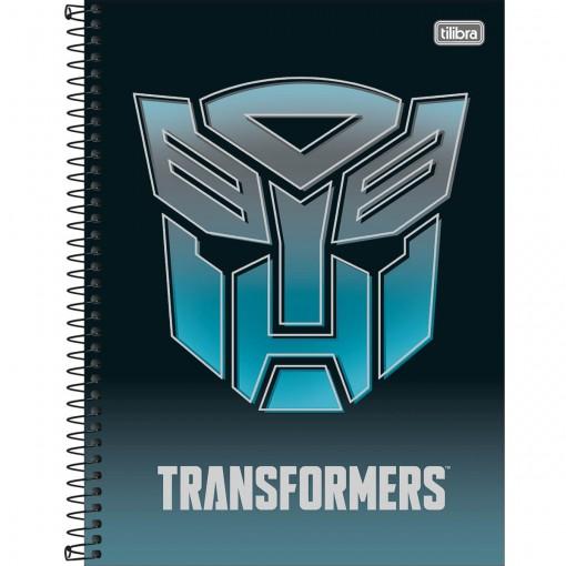 Caderno Espiral Capa Dura Universitário 10 Matérias Transformers 160 Folhas (Pacote com 4 unidades) - Sortido