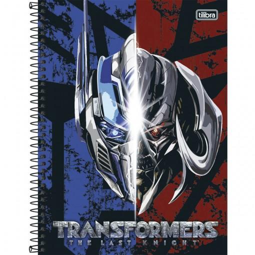 Caderno Espiral Capa Dura Universitário 10 Matérias Transformers 200 Folhas - Sortido (Pacote com 4 unidades)
